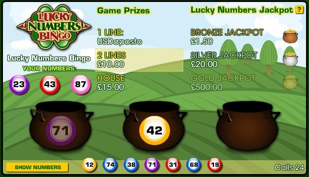 Enjoy Lucky Numbers at the Playtech webites!