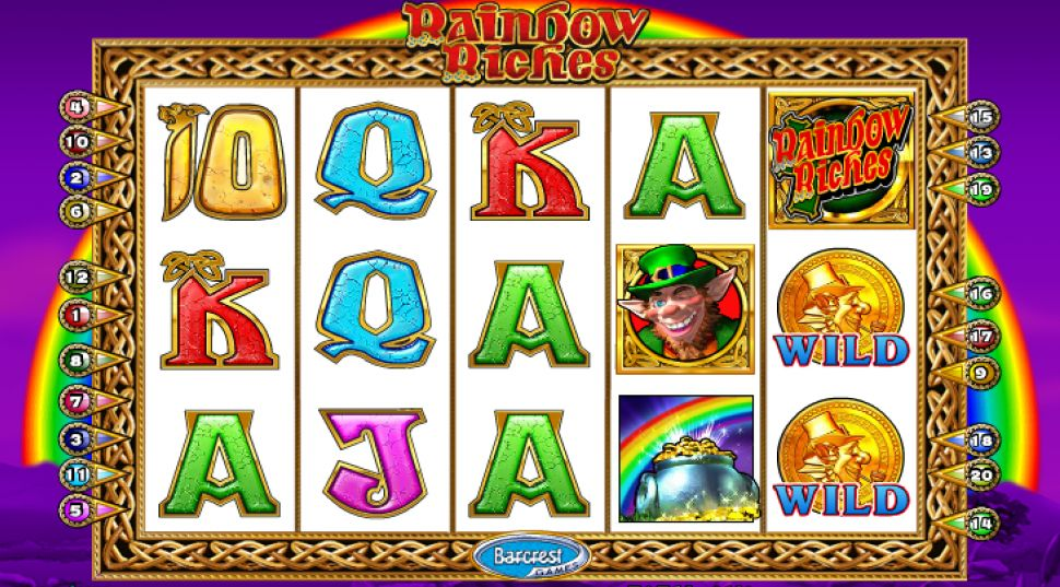 Playtech websites offer Rainbow Riches slots!